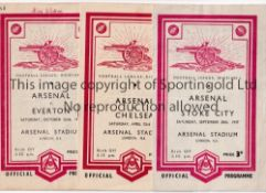 ARSENAL Seventeen home programmes 1947/8 v Stoke, Everton, Preston NE, Wolves & Blackburn Rovers and
