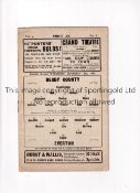 1937/8 DERBY COUNTY v EVERTON Programme for the league game at Derby 15/9/1937. Very slight marks.