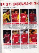 EVERTON / LIVERPOOL 1986 FA CUP FINAL AUTOGRAPHS Official programme signed by 14 of the 16 Everton