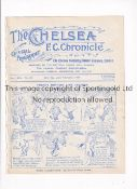 CHELSEA Programme for the home League match at Chelsea v Everton 23/2/1924, ex-binder. Generally