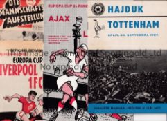 BRITISH CLUBS IN Europe Seven away programmes: Cologne Koln v Rangers 67/8, Willem II v Man. Utd.