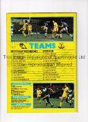 SHEFFELD WEDNESDAY AUTOGRAPHS 1986 Programme for Sheffield Wednesday v Everton 5/4/1986 FA Cup