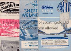 WOLVES Twelve away programmes from 1954/5 season including Blackpool, Chelsea, Everton, Newcastle,