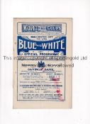MANCHESTER CITY RES. V MANCHESTER UNITED RES. / LEEDS UNITED RES. 1926 Joint issue programmes for