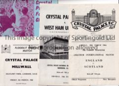 CRYSTAL PALACE MISCELLANY Promotion Souvenir following promotion 60-61, Amateur International