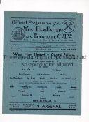 WEST HAM UNITED Single sheet programme for the home FLS match v Crystal Palace 28/4/1945, horizontal