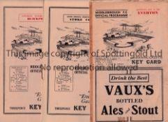 MIDDLESBROUGH Seven home programmes v Everton 48/9 with tape marks, Stoke 50/1, Blackpool 53/4,