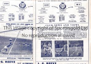 ILFORD F.C. Twelve home programmes for season 1961/2. Most are very slightly creased and some have