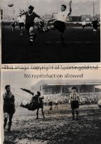 """NEWPORT COUNTY Five original b/w photos, 4 of which are 8"""" X 6"""" with action from 1958/9 season and"""