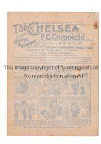 CHELSEA V TOTTENHAM HOTSPUR 1920 Programme for the League match at Chelsea 16/10/1920, slightly