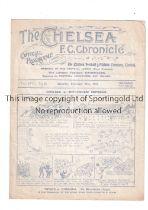 CHELSEA V TOTTENHAM HOTSPUR 1921 Programme for the League match at Chelsea 24/12/1921, slightly