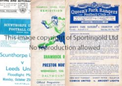 PROGRAMMES FOR FOOTBALL FRIENDLIES Twenty six programmes from 1950 onwards. Includes QPR v