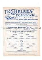 NEUTRAL AT CHELSEA 1914 Single sheet programme for Household Brigade v London F.A. 5/2/1914, ex-