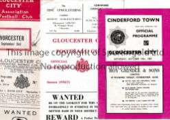 GLOUCESTER CITY HOMES 1954/5 TO 1970/1 Eight programmes for the games at Gloucester against 1954/5