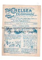 CHELSEA V TOTTENHAM HOTSPUR 1922 Programme for the League match at Chelsea 16/12/1922, slightly