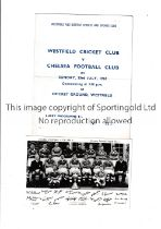 CHELSEA Original postcard of a team group of the Championship team 1954/5 with printed signatures