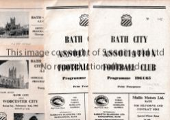 BATH CITY HOMES 1951 TO 1964 Six programmes for the games at Bath against 1951/2 Merthyr 1953/4