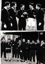 CARDIFF CITY Eight original b/w Press photos of various size, most with stamps on the reverse