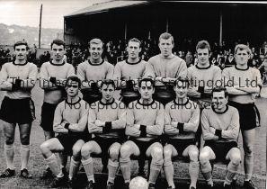 "NEWPORT COUNTY Original 12"" X 9"" team group 12/11/1966 at Bradford P.A. Good"