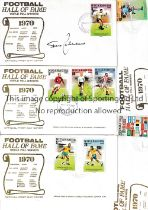 1970 FOOTBALL HALL OF FAME / AUTOGRAPHS Eight First Day Covers for the World Poll Winners and 4