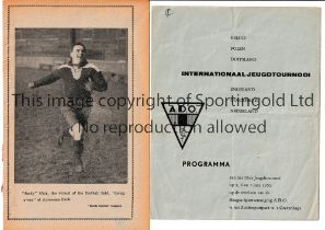CHELSEA Two programmes: away v Middlesbrough 15/1/1927, ex-binder, no cover and 4 separate sheets
