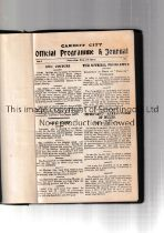 CARDIFF CITY BOUND VOLUME 1925/6 Forty one programmes for all first team and Welsh League at