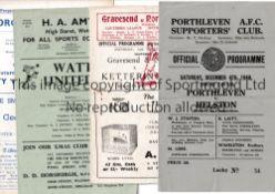 1950'S NON-LEAGUE FOOTBALL PROGRAMMES Eight programmes: Porthleven v Helston 48/9 Cup, Gravesend &