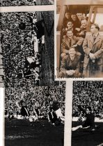CARDIFF CITY Four original Press photos of various size from 1949/50 season, 3 of which are action