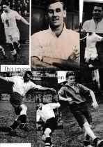 SWANSEA TOWN / AUTOGRAPHS Seventeen original b/w photos 1949/50 - 1951/2 of various size,