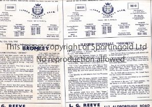 ILFORD F.C. Twenty home programmes for season 1962/3. Most are very slightly creased and some have
