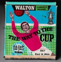 1967 FA CUP FINAL A boxed 8mm sound cine film by Walton Home Movies, The Way To The Cup with a