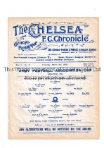 NEUTRAL AT CHELSEA 1910 Single sheet programme for the Army Football Association Cup S-F, 2nd Bat.