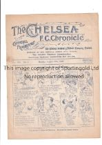 CHELSEA V TOTTENHAM HOTSPUR 1923 Programme for the League match at Chelsea 27/8/1923, very