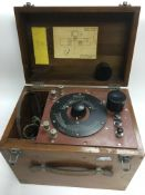 A cased military simple capacitance test set by H