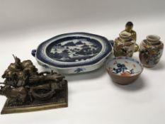 A collection of oriental ceramics. Comprising 18th