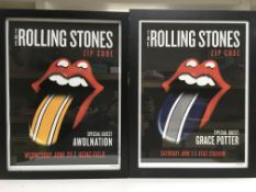 Two limited edition Rolling Stones Zip Code tour p