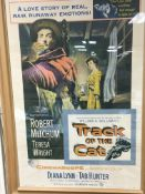 A framed and glazed vintage film poster for 'Track Of The Cat', approx 80cm x 113cm.