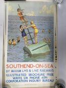 A collection of Southend memorabilia including boo