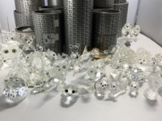A collection of Swarovski silver Crystal and cryst