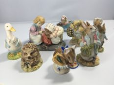 A collection of nine Beswick and Royal Albert Beat