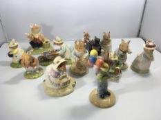 A collection of Royal Doulton Brambly Hedge figure