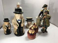 A collection of Royal Doulton figures and characte