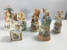 A collection of six Royal Worcester Peter Rabbit l