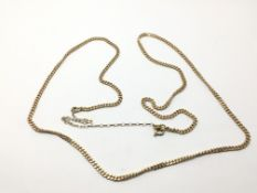 A 9ct gold necklace, approx 9.2g.