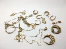 A collection of earrings including some 9ct gold e