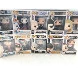 12 x Funko Pop figures. Boxed