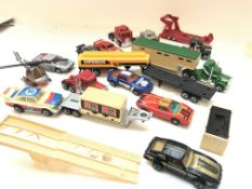 A Collection of die cast cars and lorry's includin