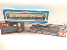 A Airfix 042 Tank GWR with coach and a Lima Mogul