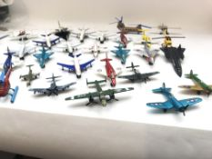 A collection of die cast aircraft including Corgi,