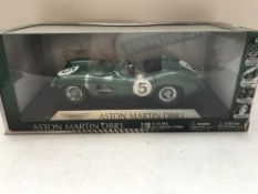A Boxed Shelby Aston Martin DBR1 boxed scale 1:18